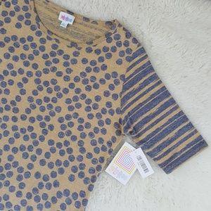 LulaRoe Julia Dots And Stripes Dress Sz L